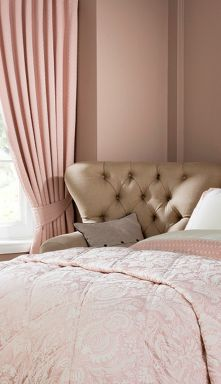 Christy Limoges curtains in pink rose
