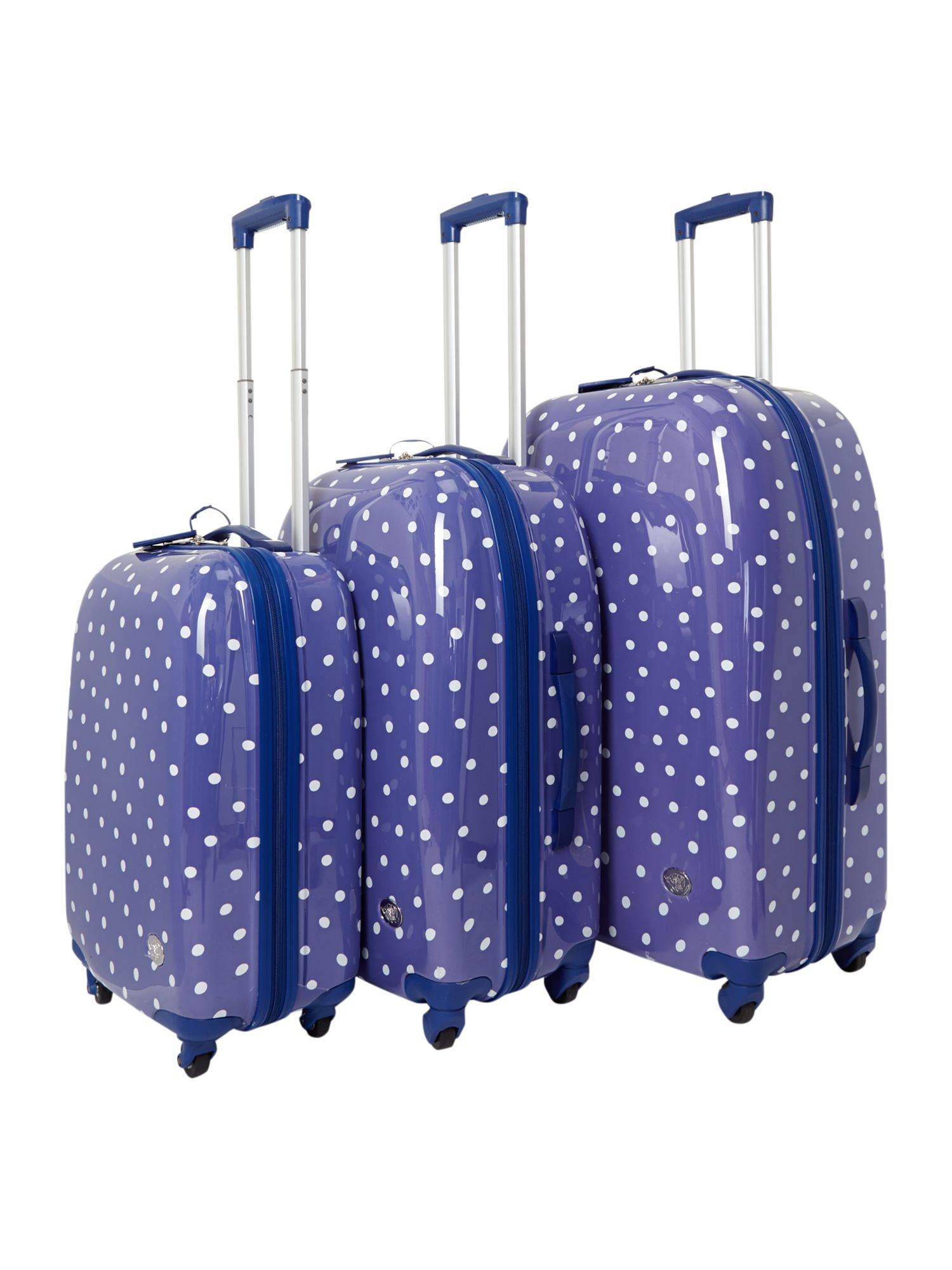 Polka dot luggage range