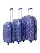 Dickins & Jones Polka dot luggage range