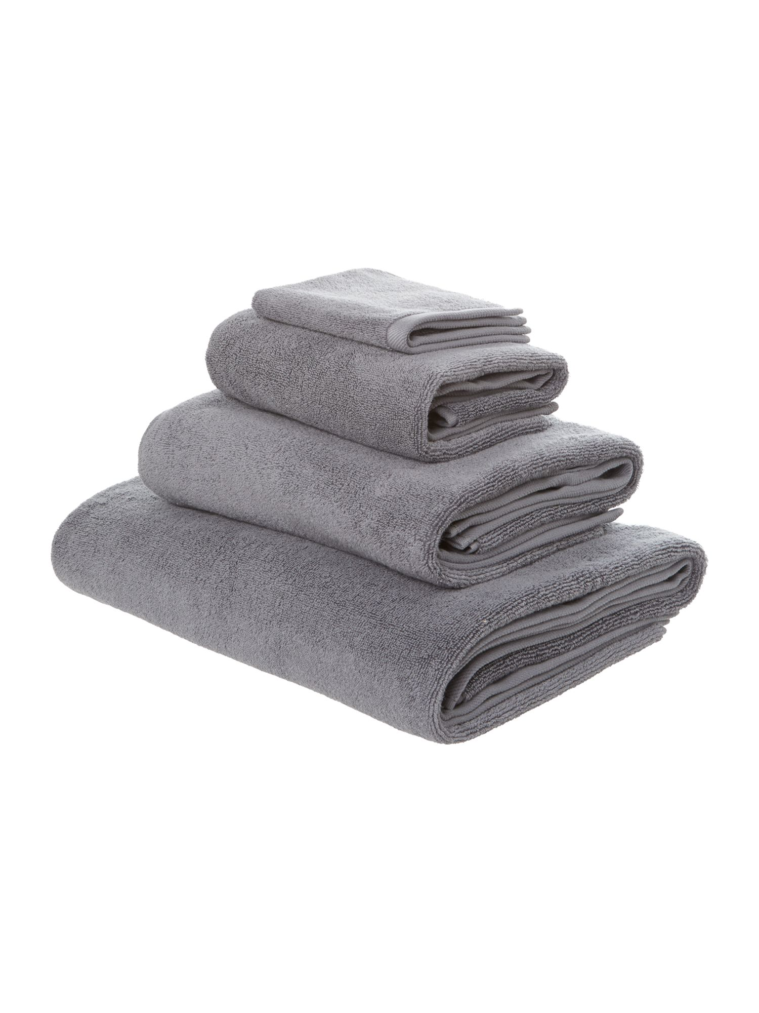 Simply soft grey towels