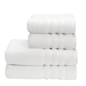Savannah white towels