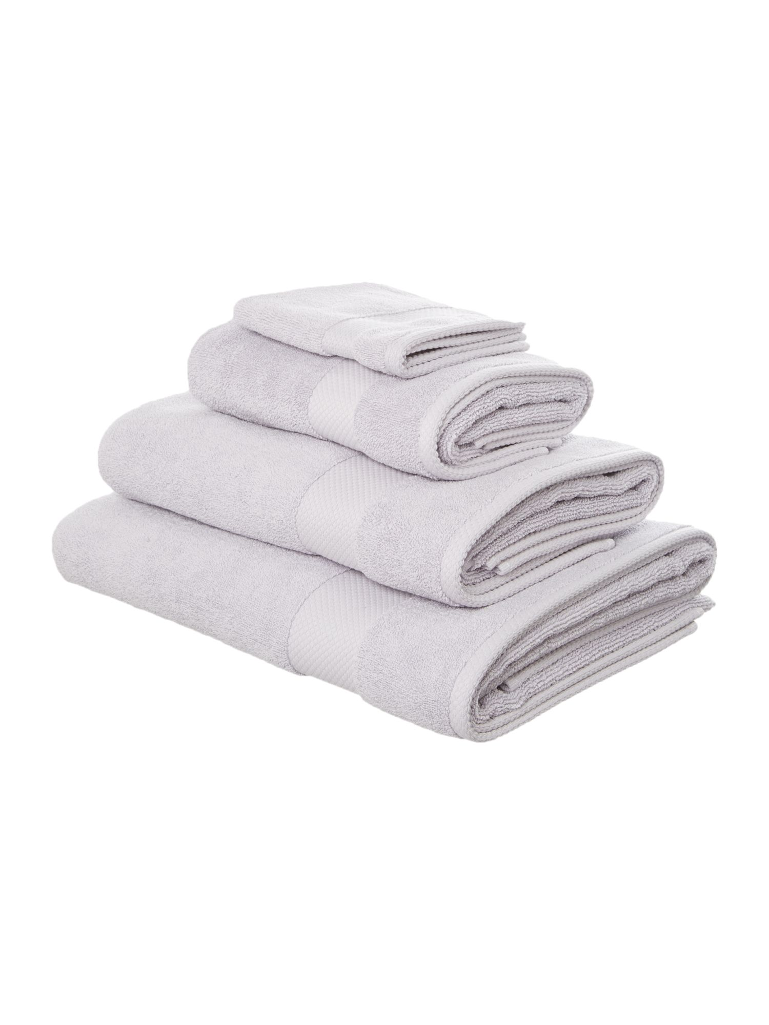 Egyptian cotton towels in heather