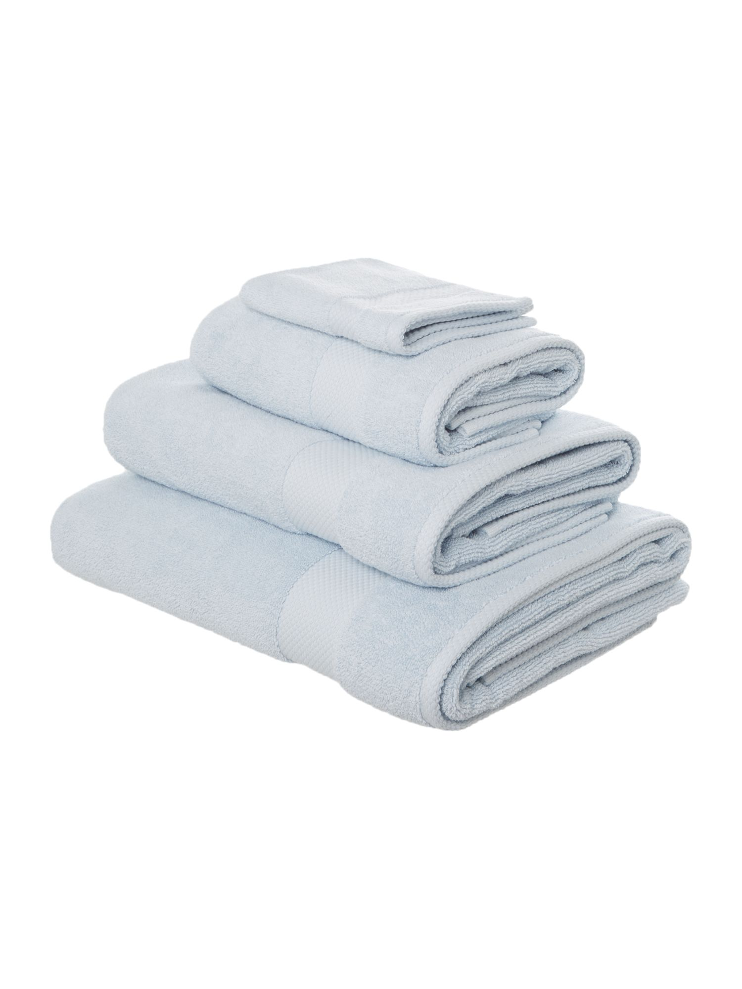 Egyptian cotton sky blue towels