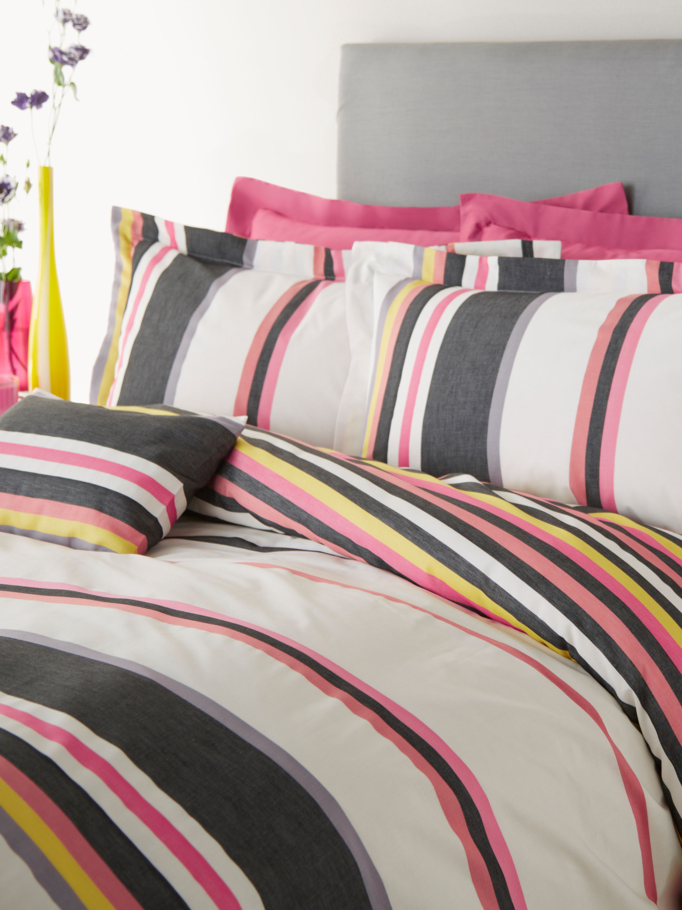 Cherie stripe super king duvet cover