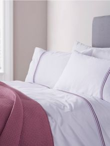 Lousia plum single duvet cover set