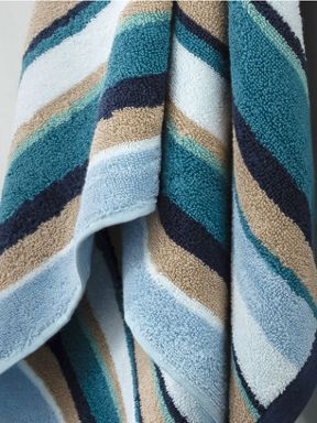 Christy Georgia lagoon stripe towels