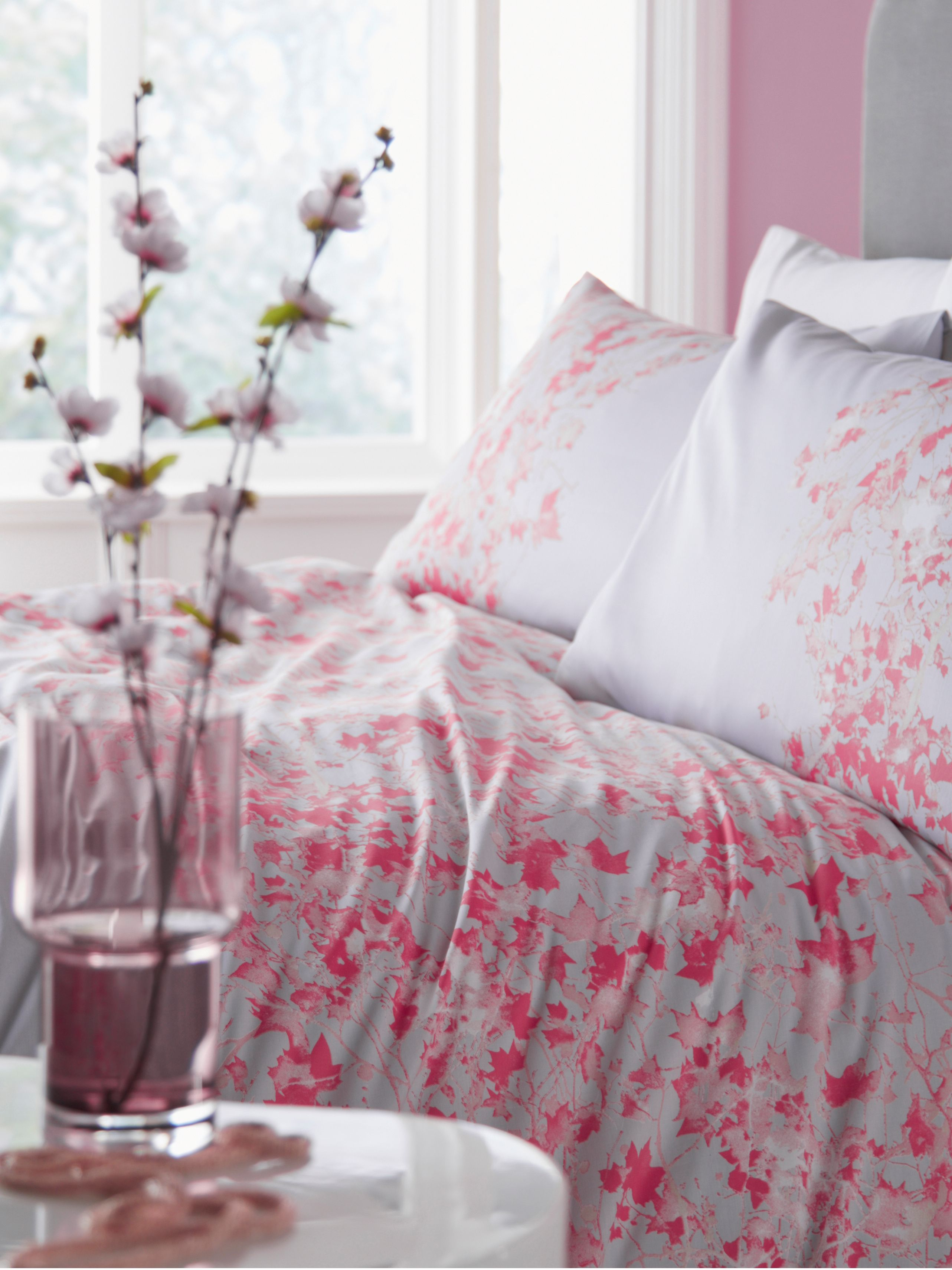 Elodie floral grey king duvet cover