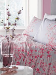 Elodie floral grey super king duvet cover
