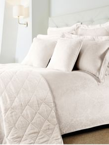 Damask single duvet set cream