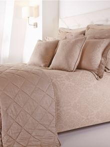 Damask double duvet cover set taupe