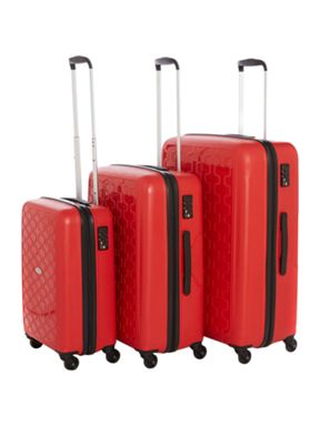 Linea Moblite red luggage range
