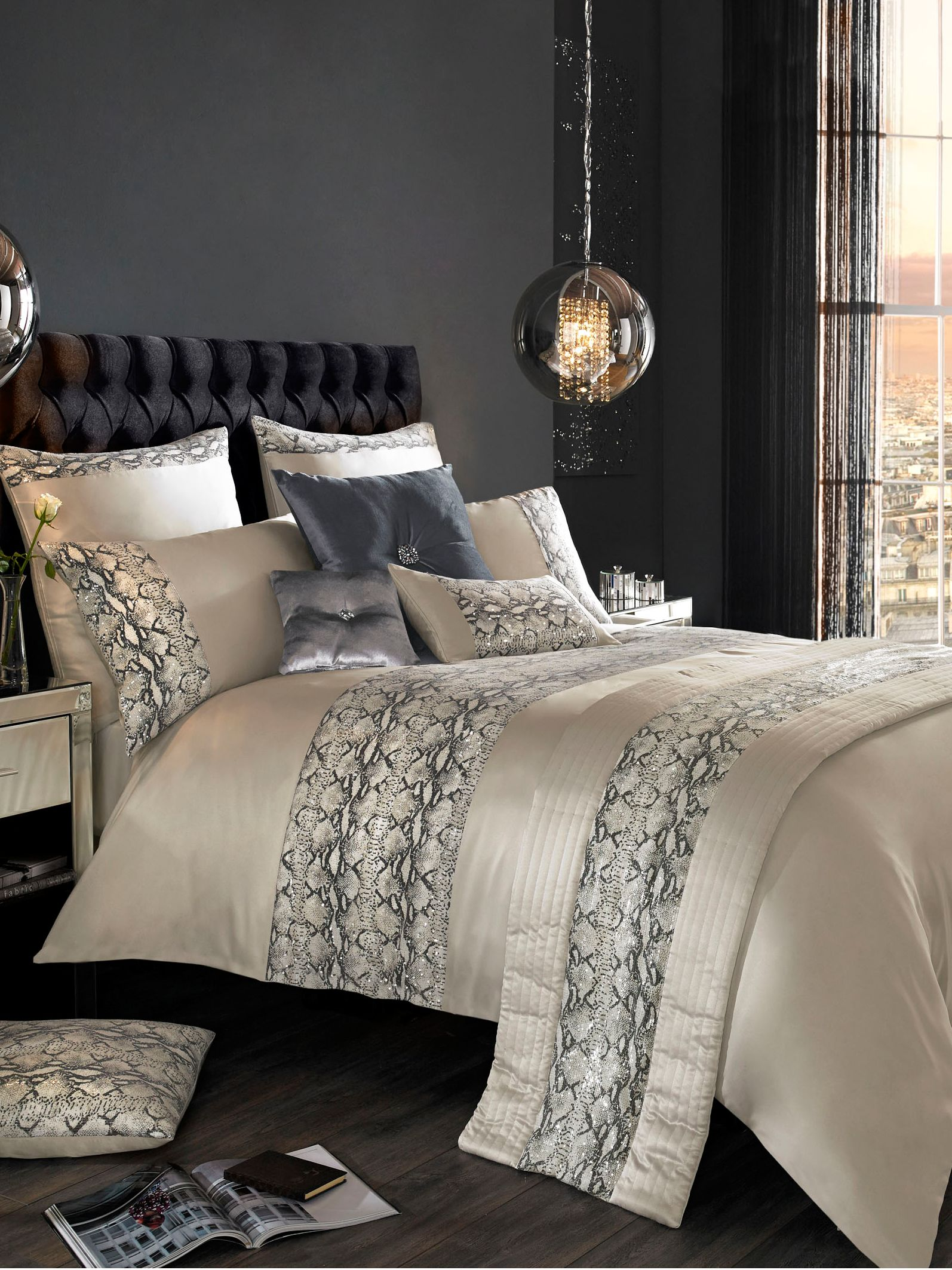 Adira bed linen in grey