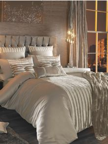Lucette praline super king duvet cover
