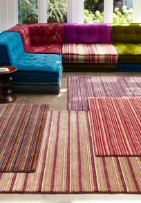 Plantation Rug Co. Seasons 100% Wool Rug Range - Red Stripe