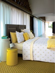 Unpeu jaune quiltted bedcover double