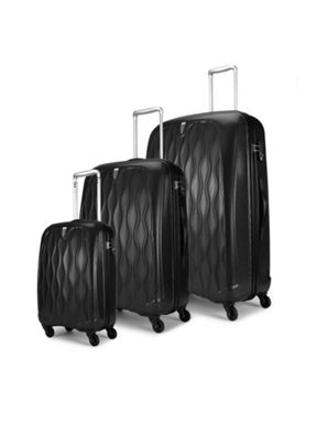 Antler Liquis black luggage range