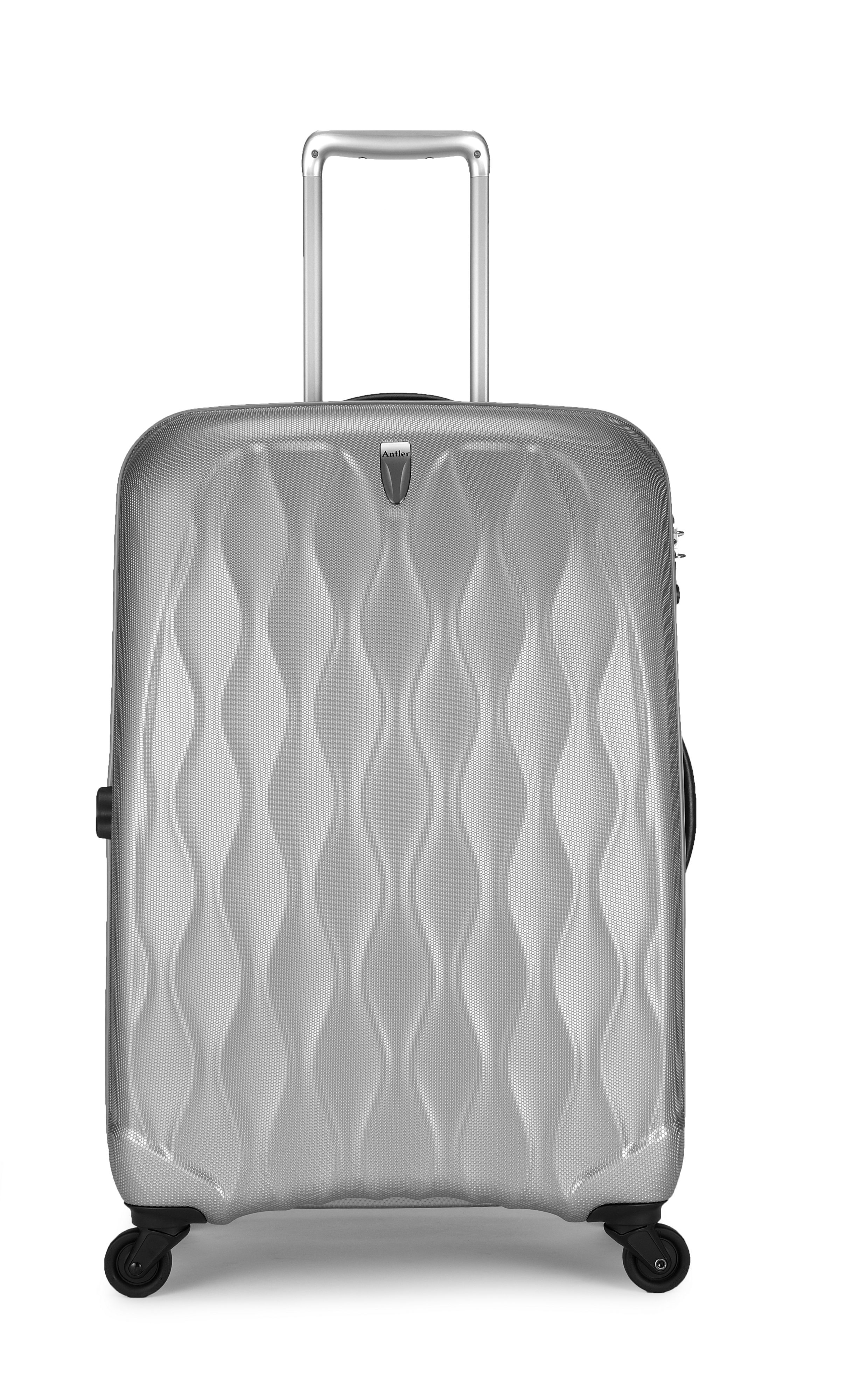 Liquis embossed silver 4 wheel hard cabin case