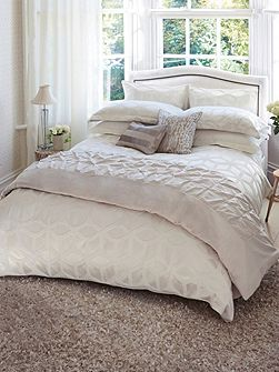 Lattice pillow case oxford chalk