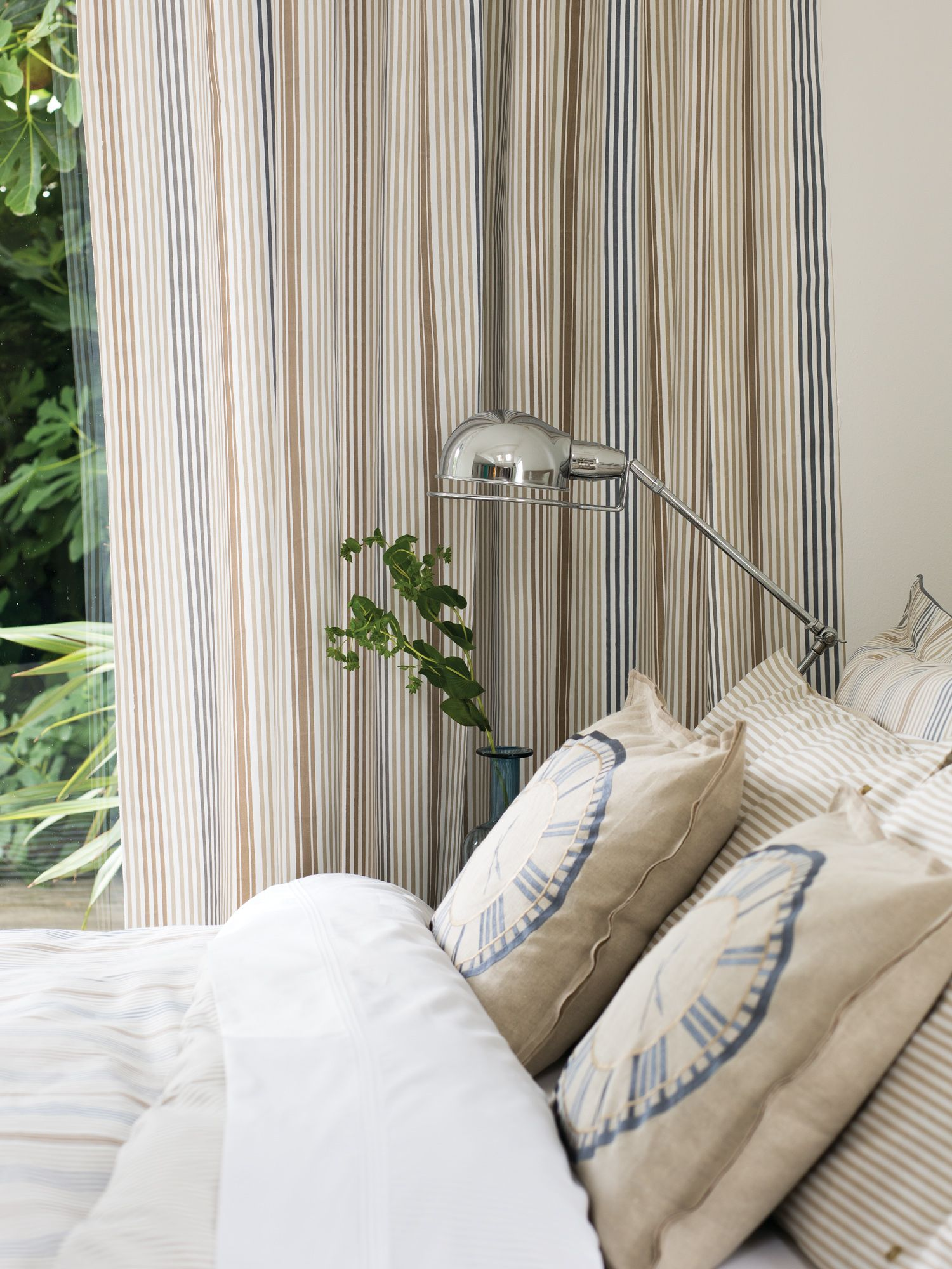 Henley white curtains