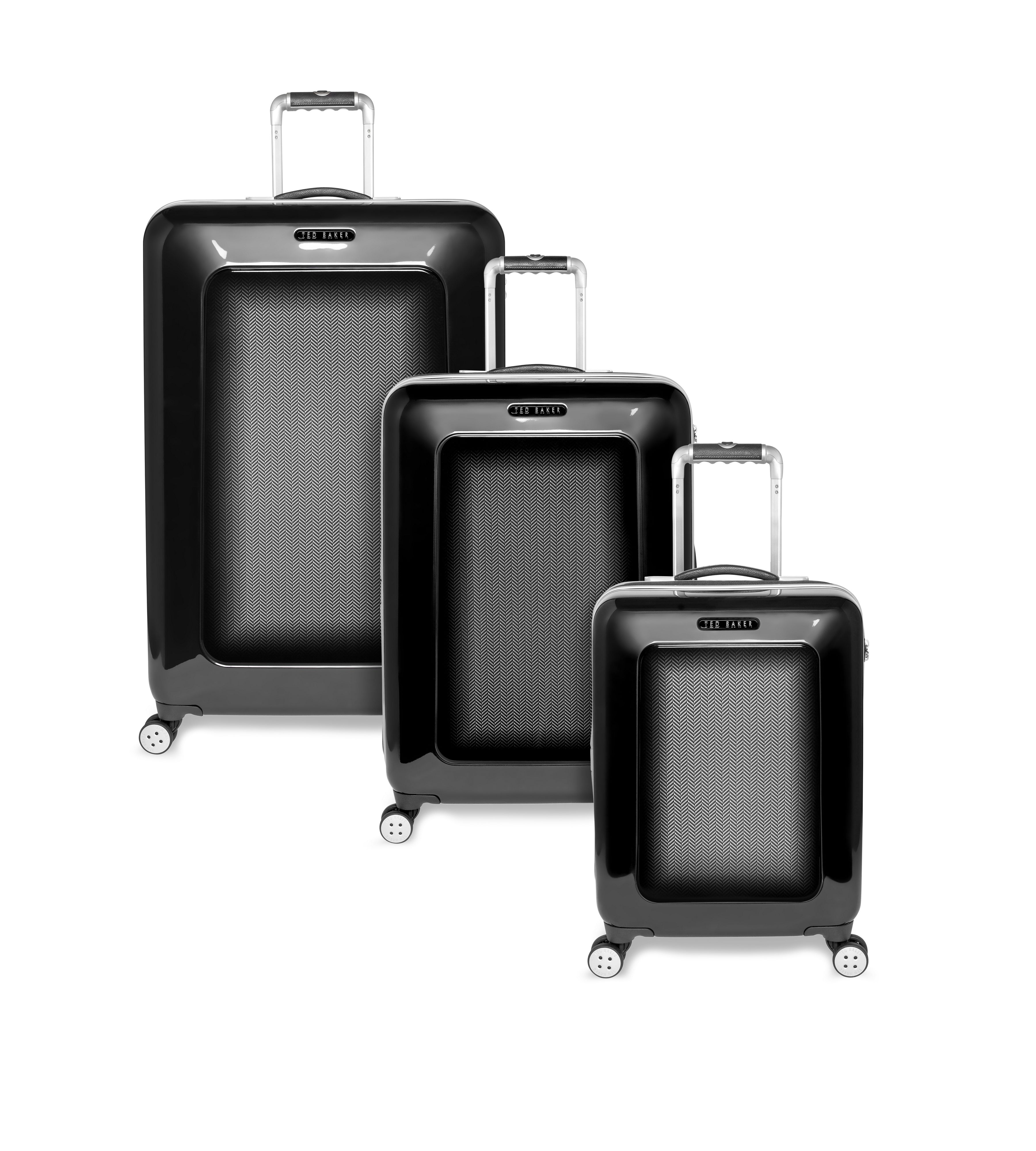 Heringbone black luggage range