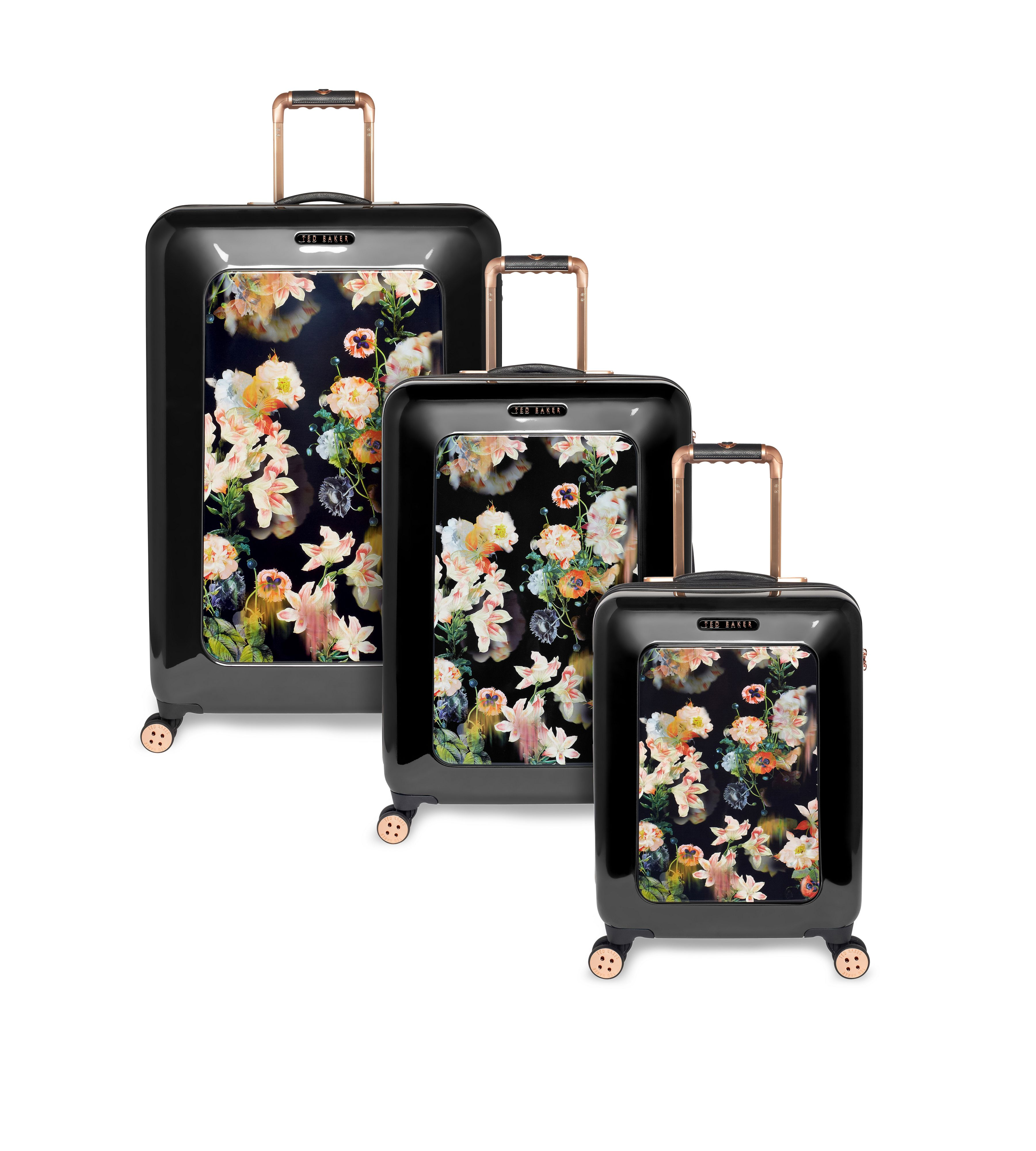 Opulent Black luggage range