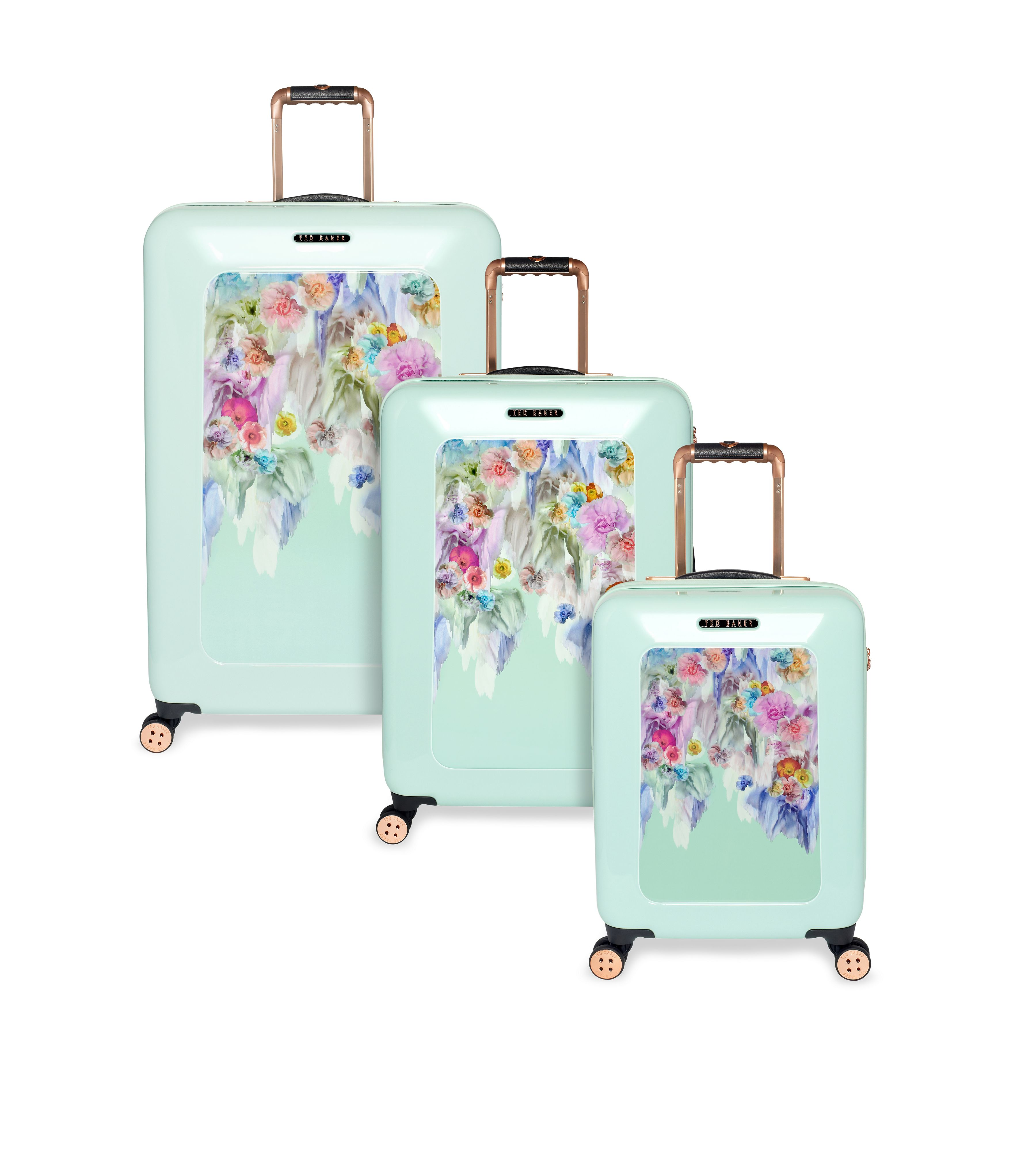 Sugar floral luggage range