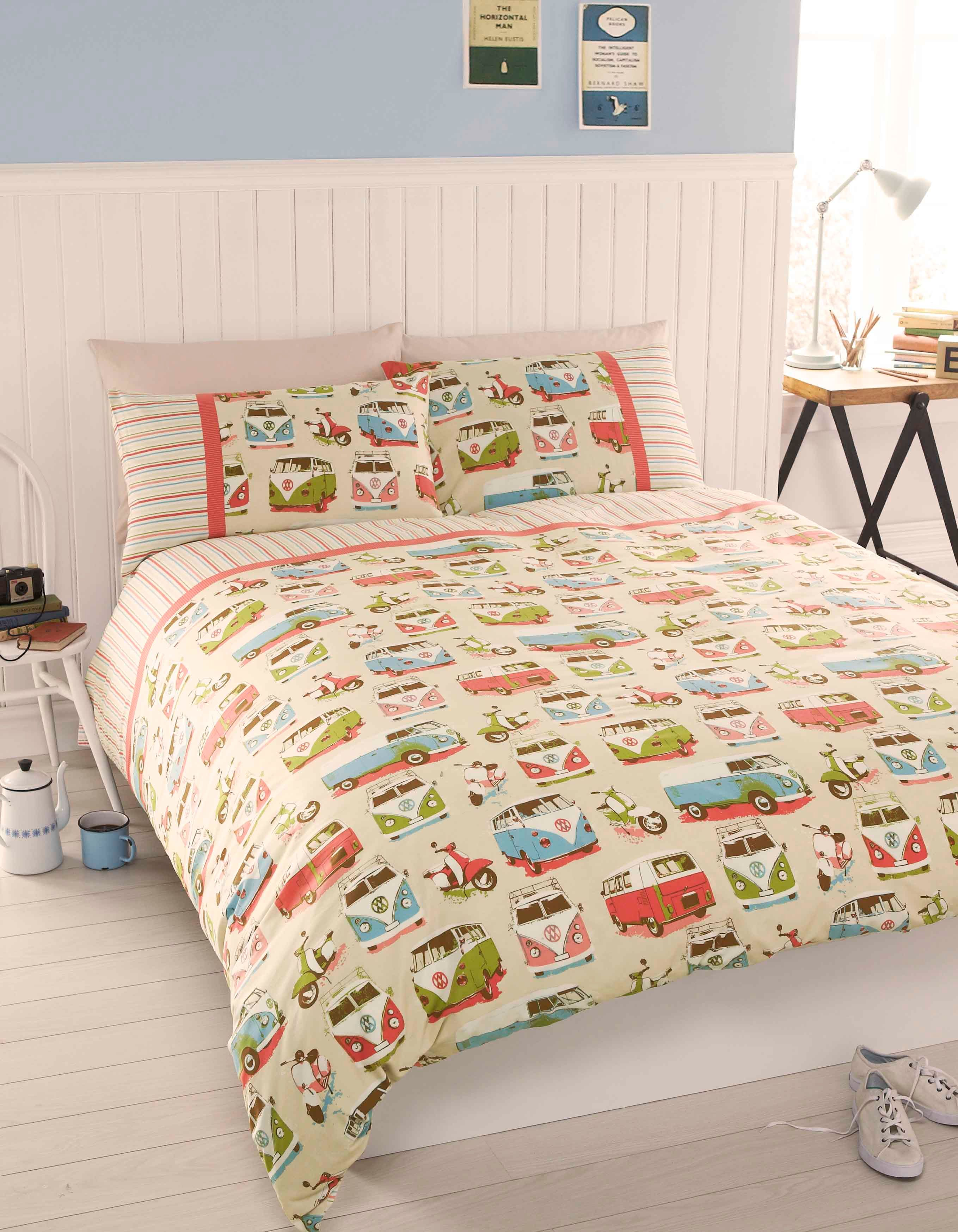 Camper van king duvet set