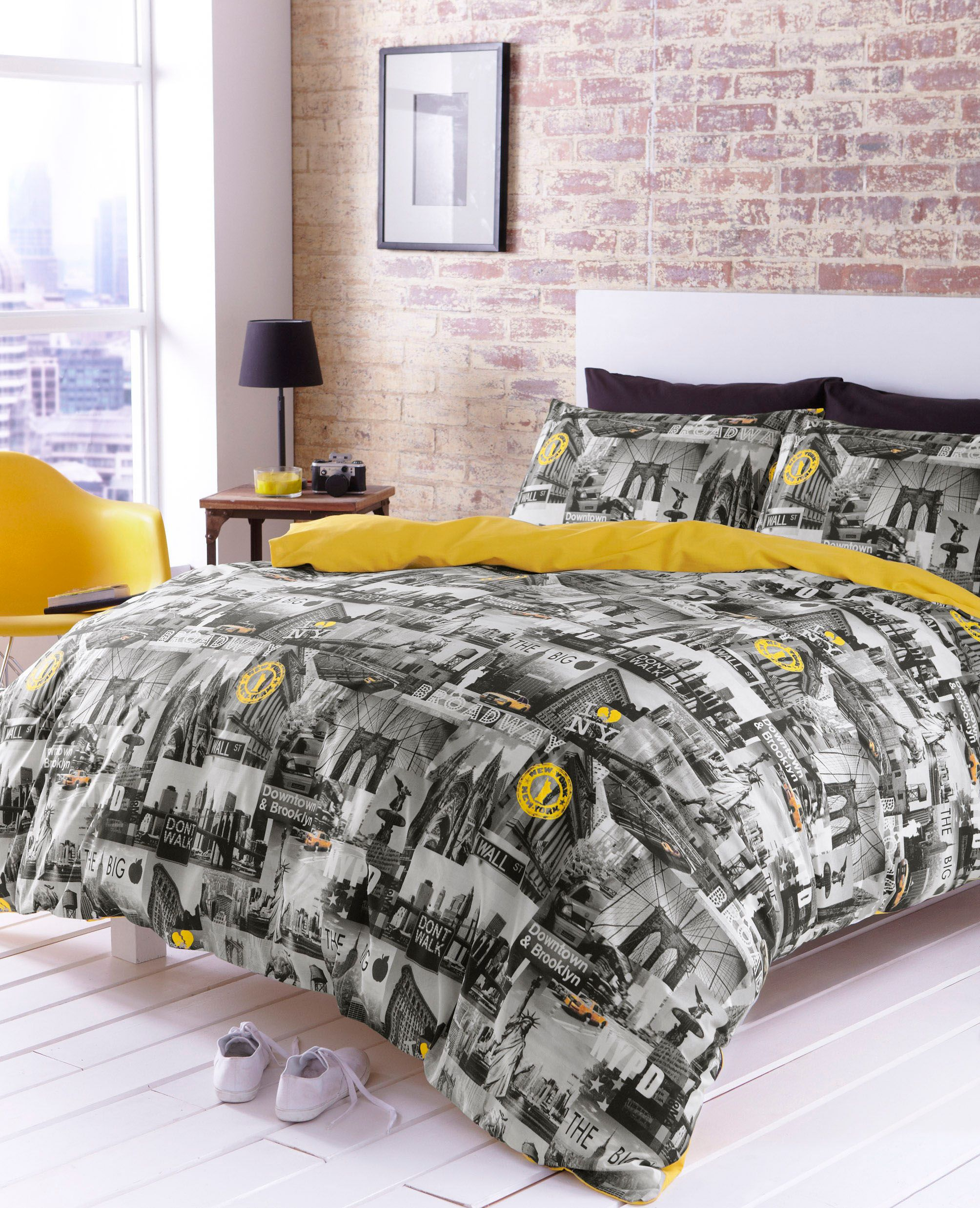 Manhattan sky line bed linen