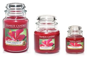 Yankee Candle Pink hibiscus candles