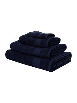 Egyptian Cotton Hand Towel in Navy