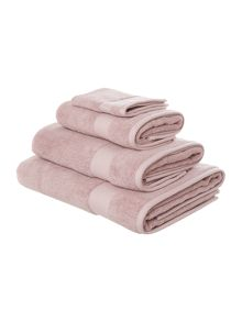 Egyptian towel range in blush