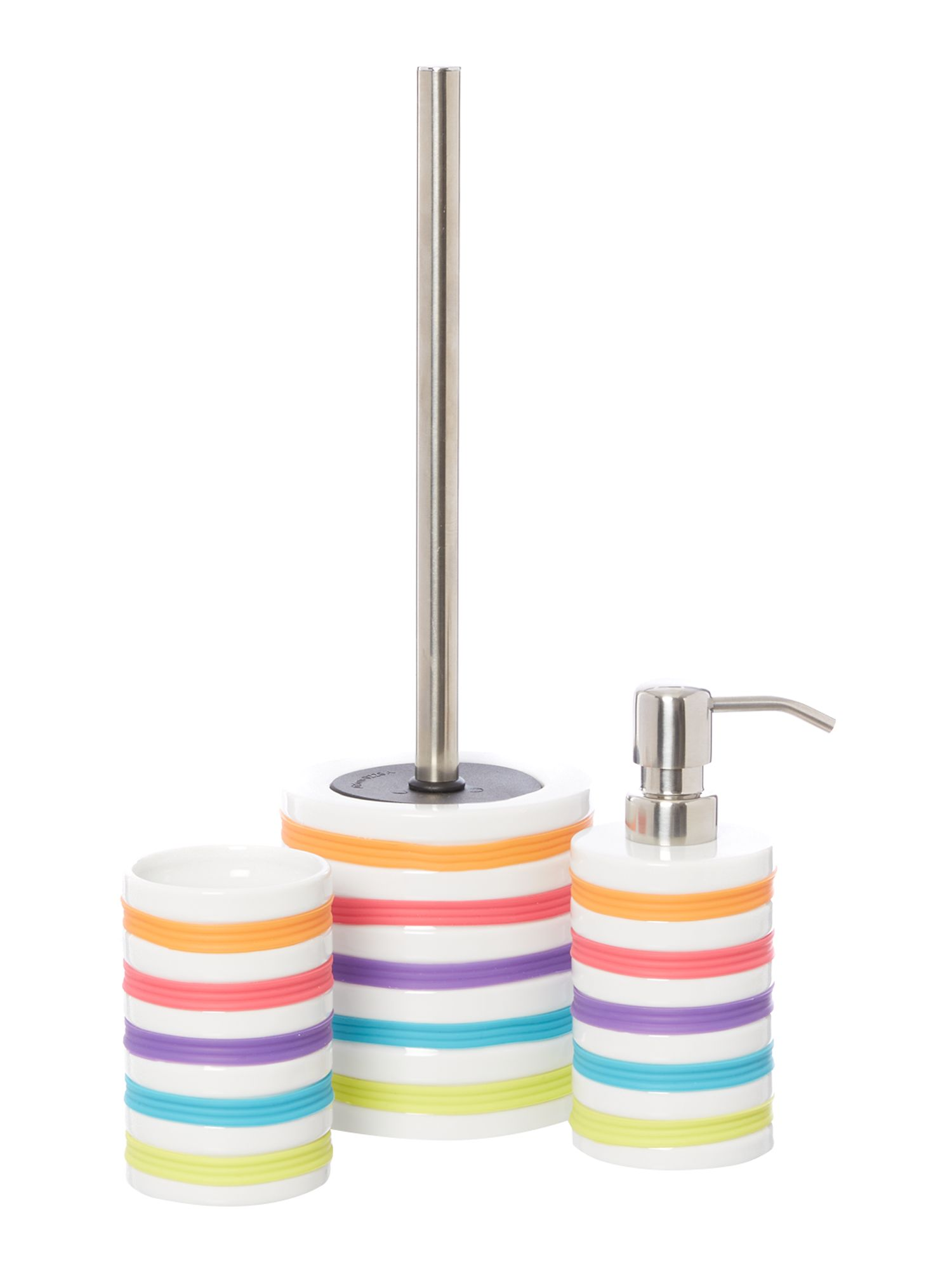 Bright Stripe Bathroom Accessories