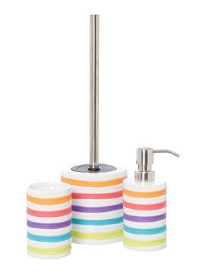 Linea bright stripe bathroom accessories house of fraser for Bright bathroom sets