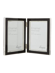 Black hinged enamel frames