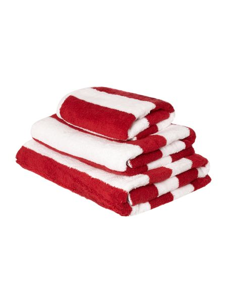 Linea Nautical Stripe Bath Sheet in Red