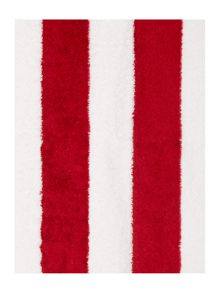 Nautical red wine stripe towel range