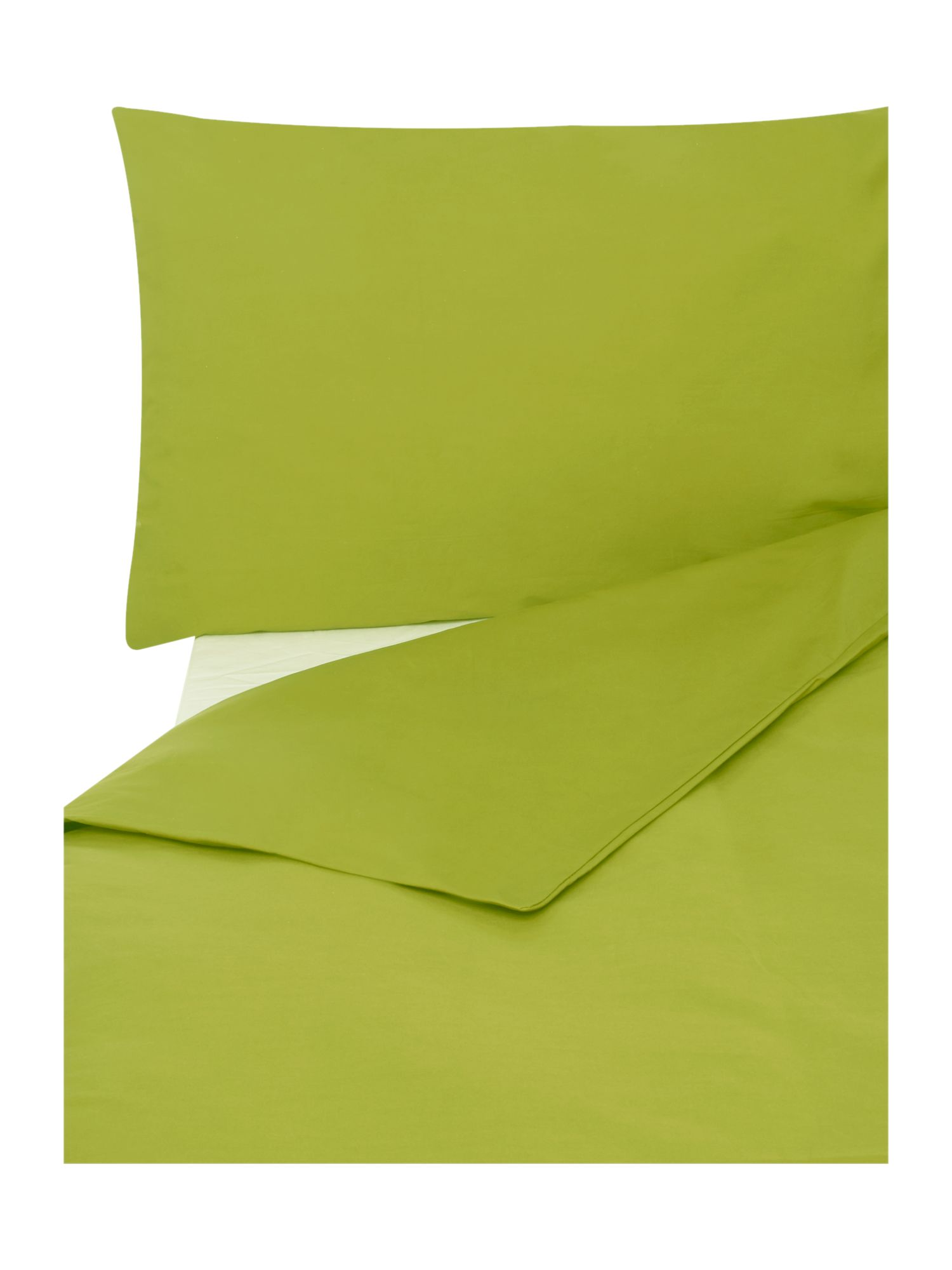 Egyptian cotton bedding range in lime