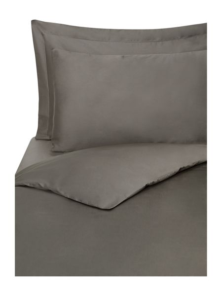 Linea Supima 300 thread count single duvet cover pewter