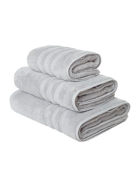 Casa Couture Hand Towel in Silver