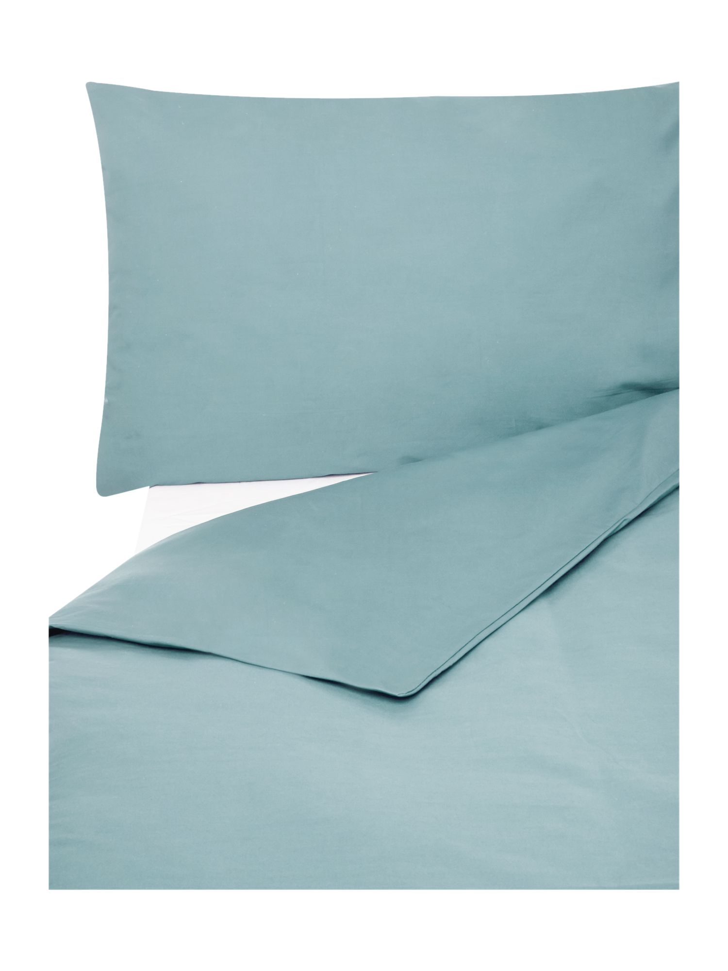 Egyptian cotton bedding range in duckegg