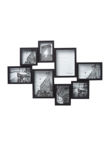 Linea Black Multi Aperture Photo Frame Range
