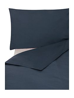 Egyptian cotton indigo fitted sheet super king