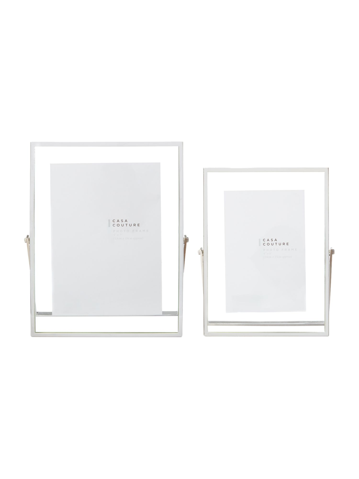 Metal stand glass frames