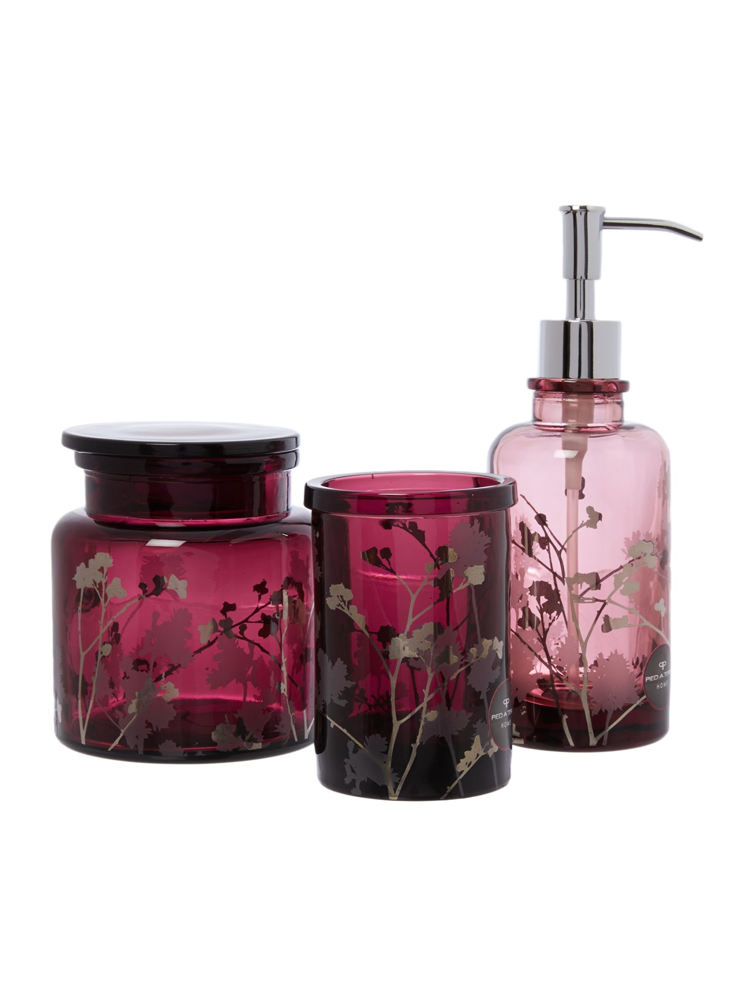Oriental blossom bathroom accessories