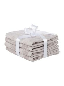 Luxury Hotel Collection Zero Twist Towels 500GSM Grey