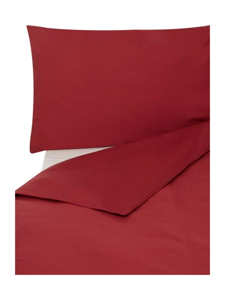 Linea Egyptian cotton flat sheet single deep red