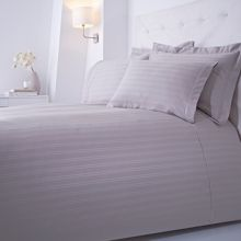 Luxury Hotel Collection Dobby Stripe bed linen range in Grey