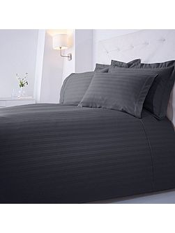 Dobby stripe double duvet set slate