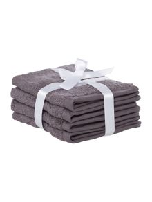 Zero Twist Pewter 500GSM Towels