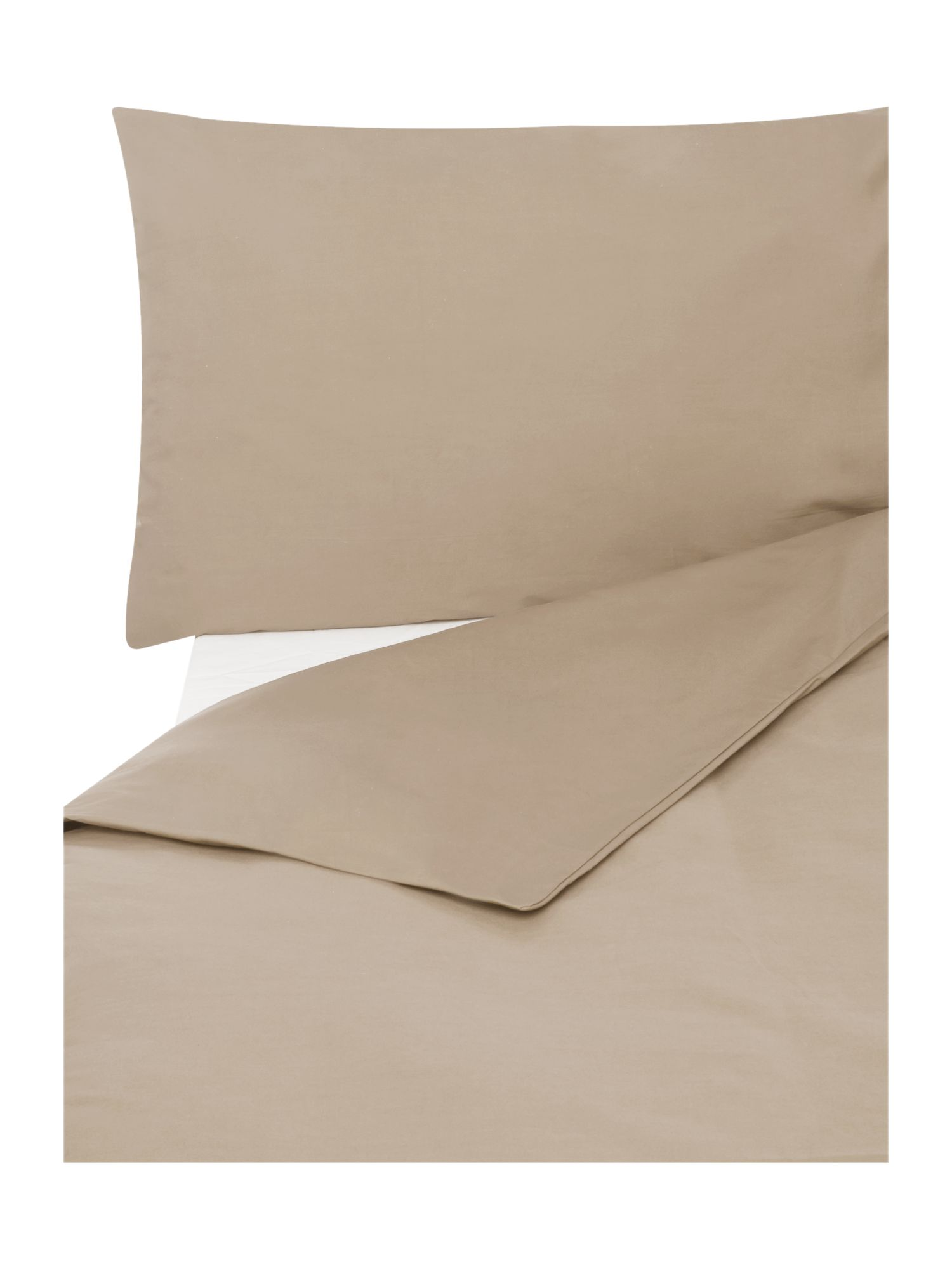 Egyptian cotton bedding range in stone